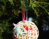 Enchanted Spring Garden of Delight Bird Designer Nesting Ball of Fae and Fairy Friends perfect for Wedding Present or Gift