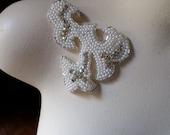 SALE Rhinestone & Pearl Applique for Bridal Headpieces or Sashes, Costume or Jewelry Design  PRA 1