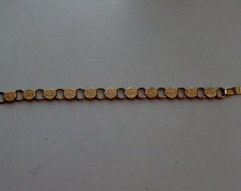 NEW Gold Tone Link Bracelet by Sarah Coventry