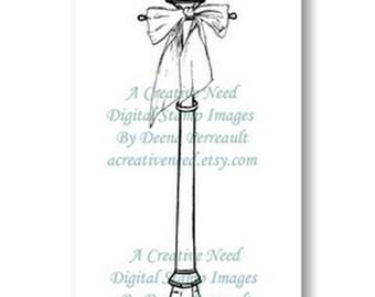 INSTANT Download Digital Stamp Image VINTAGE Lamp Post