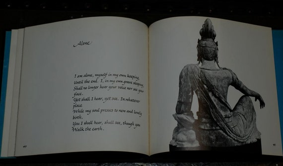 Vintage 70s Pearl S Buck Words Of Love illustrated asian art zen poem book