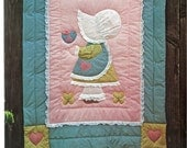 Amy Sunbonnet Sue Easy Applique Crib Quilt Gingham Goose Pattern