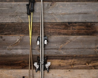 Banded Wine Barrel Stave Ski Rack