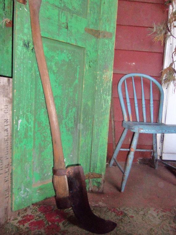 Antique Farm Garden Tool Grim Reaper Hay Knife By Avaricia