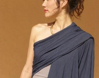 Womens  top-One sleeve top-Women's wrap shawl