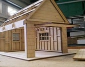 "1/2"" scale Dollhouse Garage Kit"