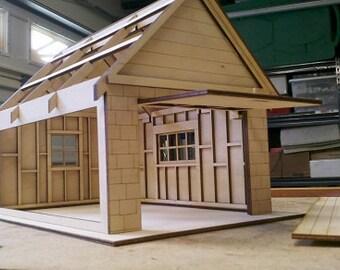 "1/2"" scale Dollhouse Garage Kit"