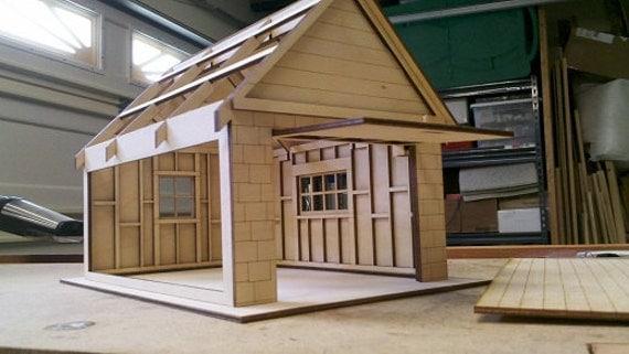 1 2 scale dollhouse garage kit for One car garage kits sale