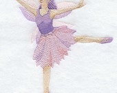Fairy Dancer Embroidered Terry Kitchen Towel Bathroom Hand Towel