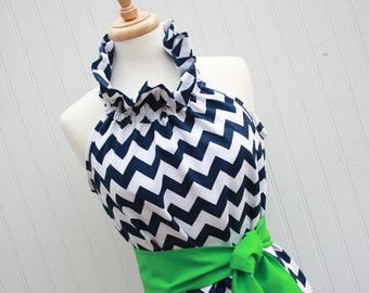 Simply Chic...Women's Chevron Dress with Removable Sash