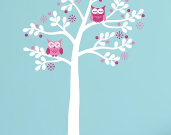 Owl Tree Wall Decal, Owl Decals, Girls Owl Decals, Girls Wall Decals, Owl Wall Stickers