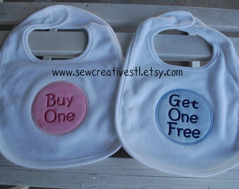 Buy One Get One Free Circle Bib Set for TWINS