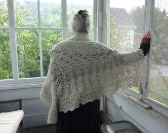PDF Knitting Pattern My Ancestress Hap Lace Shawl