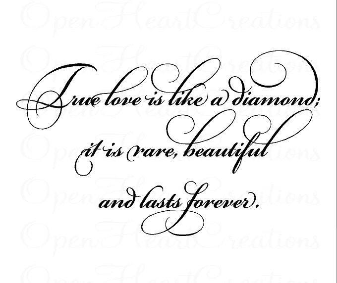 Love Is Quote: Love Wall Quote Decal True Love Is Like A Diamond Wedding