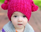 make your own Squiggles Cabled Cap (DIGITAL KNITTING PATTERN) preemie newborn baby toddler child