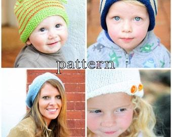 make your own Adventure Hat (DIGITAL KNITTING PATTERN) newborn infant toddler child tween teen adult