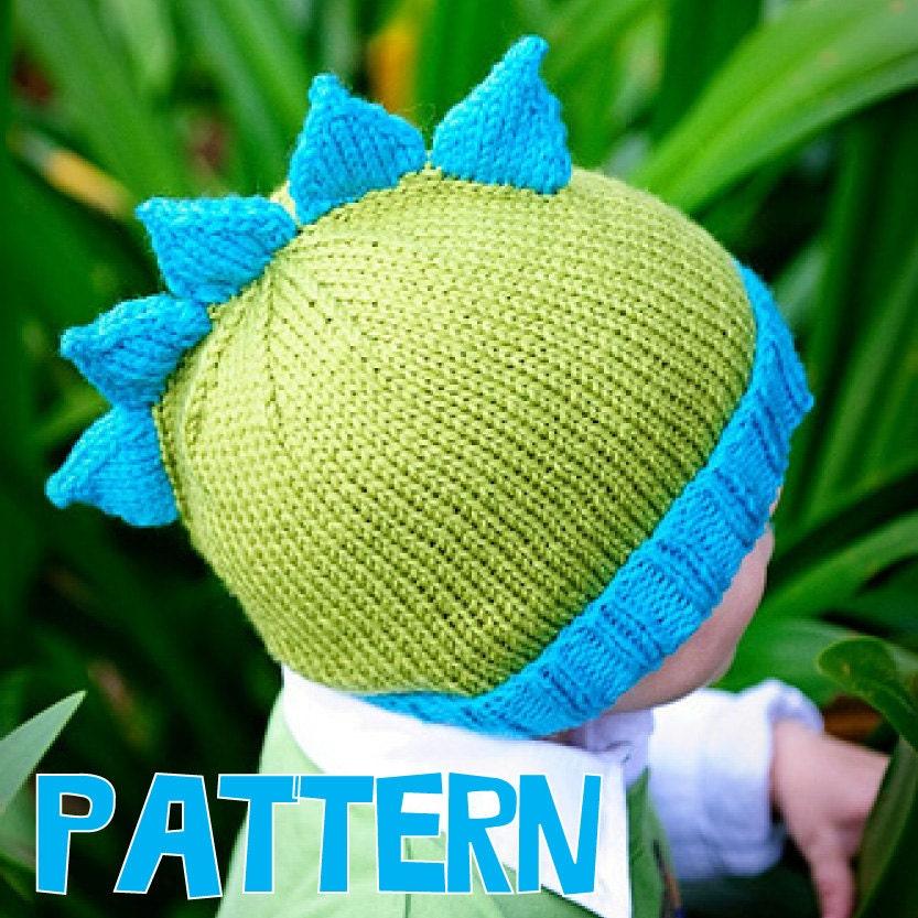 Make Your Own Knitting Pattern : make your own Roar Stegosaurus Hat DIGITAL KNITTING PATTERN