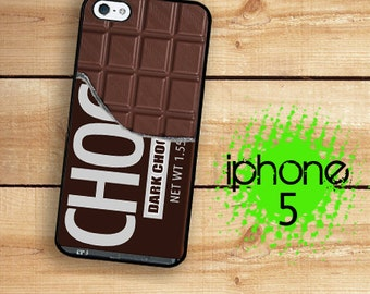 iPhone 5S Chocolate Bar Candy Bar Plastic or Rubber Case for iPhone 5 iPhone 5S