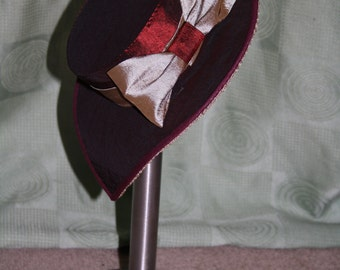 Custom Order Victorian Style Tilt Hat - Made to Order