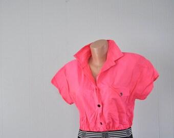 Striking Neon Jumper Shorts Vintage 80s 90s Fun Tennis Skirt Coolots Salmon Pink Black Funky