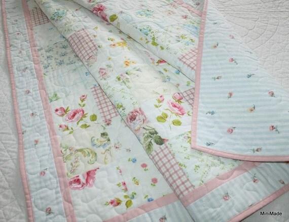 Modern Vintage Baby Or Lap Quilt Pastel Vintage Sheets