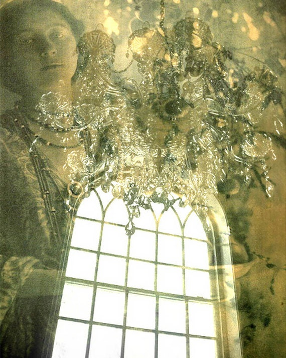 """Haunted Photograph """"Watch Her Disappear"""" Dreamy Haunted Fine Art Photograph Print - Pale Pastel Green"""