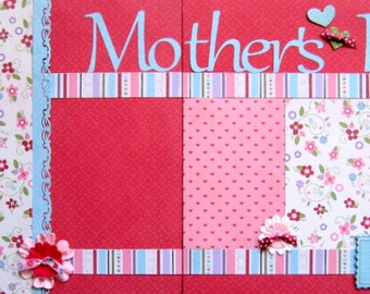 Scrapbooking Kit Premade Pages Scrapbook Mom Mother's Day 2 Page Scrapbooking Layout