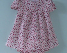 Pretty liberty baby dress and pants set for a 9- 12  months old baby. Ideal for Spring and Summer