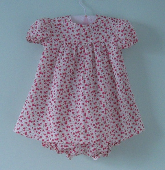 Pretty liberty baby dress and pants set for a 9 months old baby. Ideal for Spring