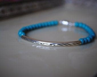 Turquoise colored simple/stackable bracelet