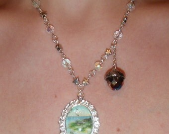 Neverland Kiss Necklace, Adventures with Peter Pan
