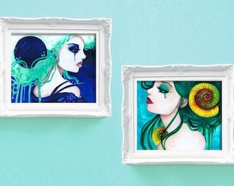 11x14 Print Set Luna and Tempest