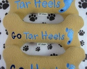Large UNC Tar Heels Embroidered Plush Dog Bone Toy