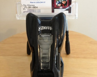 Business Card Holder Made in Vermont and handcrafted out of a Recycle Ski Binding makes a great ski gift for skiers