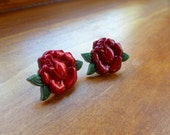 Earrings Mix and Match Collection Matching Set Nostalgic Red Roses