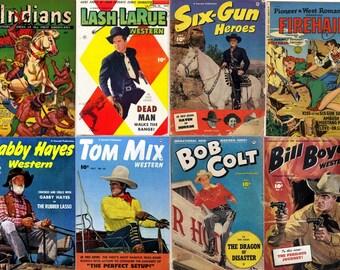 DVD Golden Age COWBOY WESTERN Comics (Fawcett Comics) (vol 3) Cowboy Monte Hale Gabby Hayes