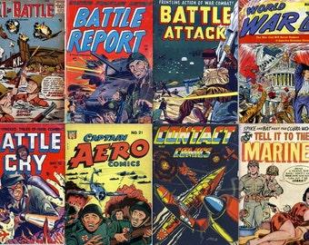 World WAR & HEROES Comics DVD Golden Age (vol 5) G I Joe Marines Attack Navy U S A