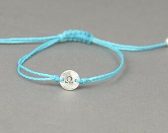 Greek Alphabet  sterling silver bracelet.Stamping