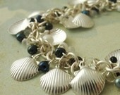 Shaggy Shells and Sand - Bracelet  Kit  - Miyuki Glass Fringe Beads and Silver Plated Shells