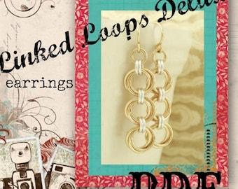 Linked Loops Deluxe Earrings PDF - Basic Instructions - Expert Tutorial