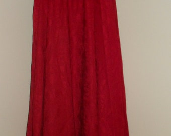 Egyptian Fusion Bellydance Burgandy Red Professional 7 Yard Circle Skirt- 035