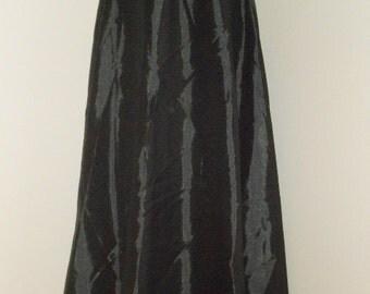 Egyptian Fusion Bellydance Black Satin 5 Yard Circle Skirt- 025
