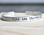 Misanthrope, adjustable bracelet, aluminum, bangle bracelet, anti valentines day, womens bracelet, funny jewelry, grumpy, snarky