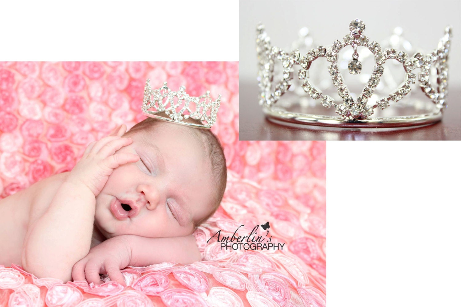 Baby Crown. Baby Tiara. Mini Tiara. Newborn crown. Newborn tiara. Crystal crown. Newborn photo prop. baby showergift