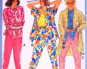 burda pattern 6420 - misses shirt, overshirt and pants - (1980s) - UNCUT