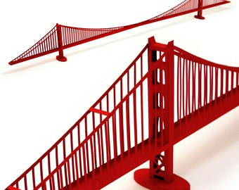 Golden Gate Bridge, assembled model