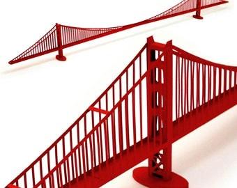 Golden Gate Bridge, assembled model