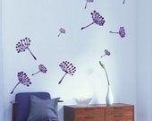 Flying Dandelion Flowers wall art decals