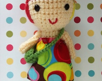 Crochet  doll, handmade doll, Cuddly doll, soft toy, holiday gift, ready to ship