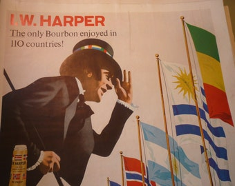 Vintage Ad - Whiskey ad from 1960s - Original ad - IW Harper Bourbon